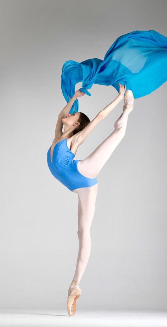 ballet frau blau  - kumiko version 2